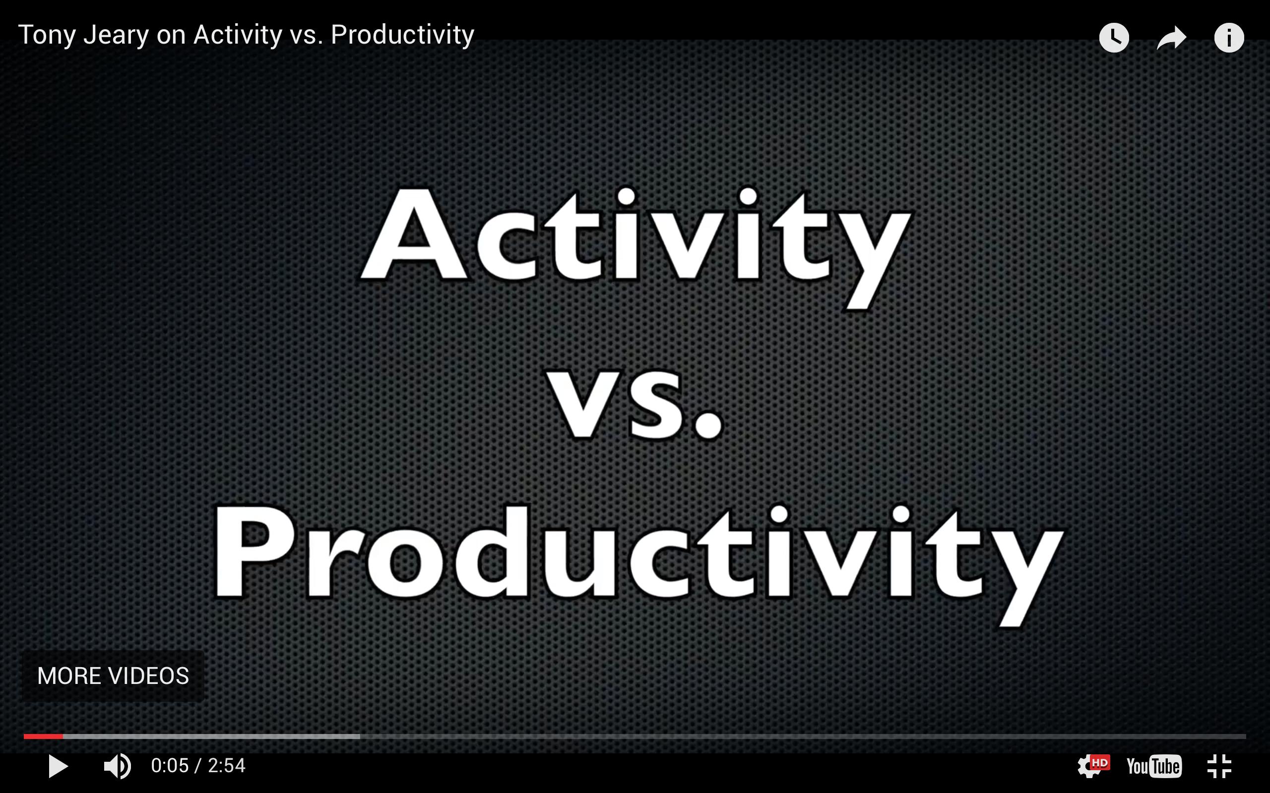 Activity vs. Productivity