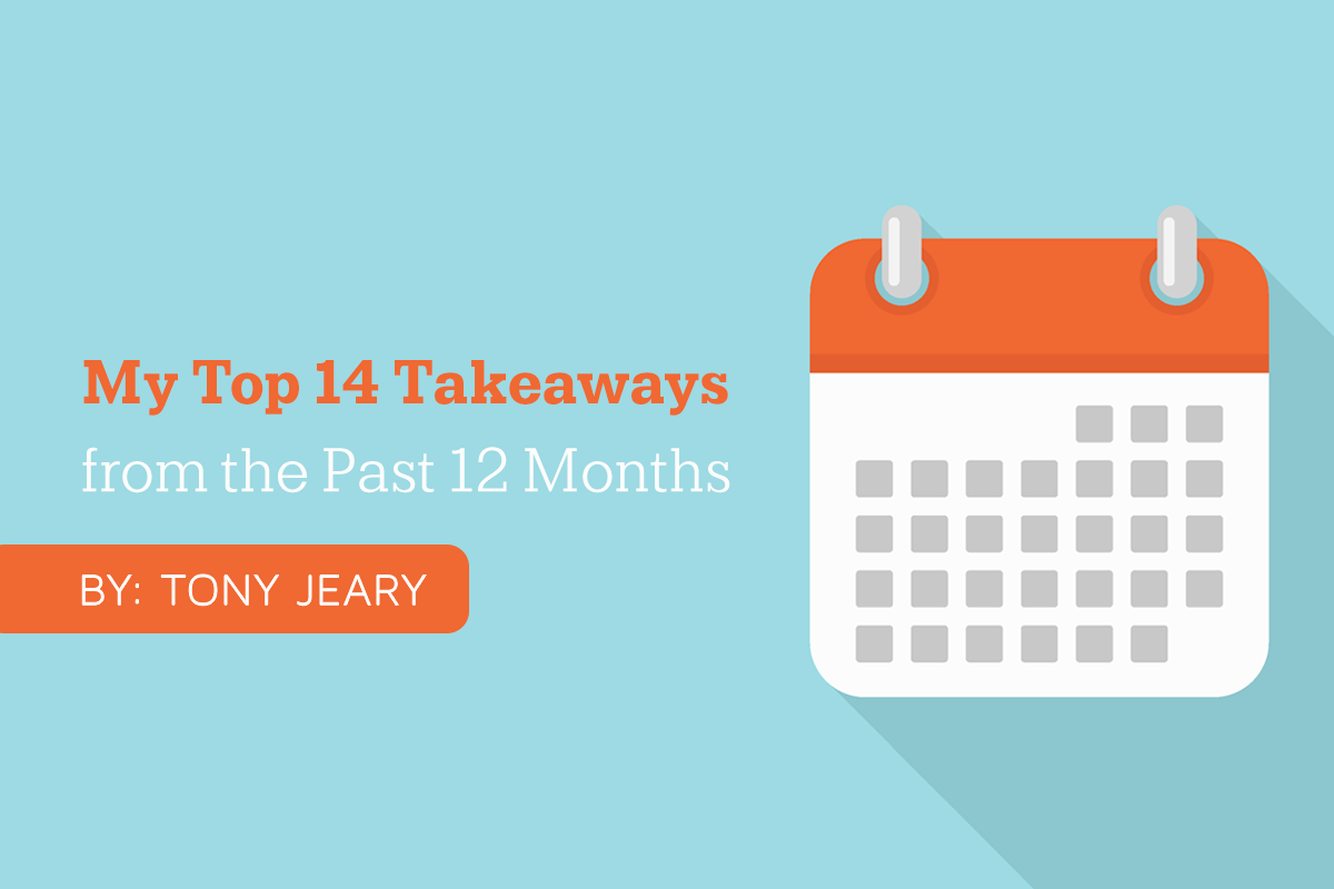 My Top 14 Takeaways from the Past 12 Months